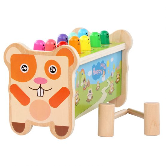 Whack A Mole Wooden Pounding Bench Toy