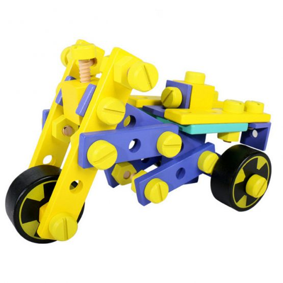 DIY Variable Shape Nut Combination Vehicle Wooden Assembly-3D