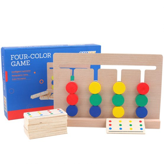Four Color Wooden Matching puzzles board