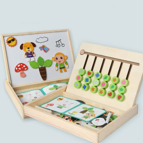 Wooden Stacking and matching Logic Puzzle Game for Kids