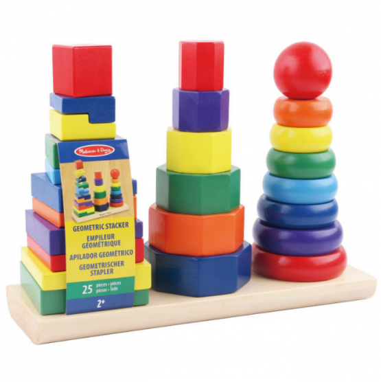 Geometry Intelligence bright colourful wooden Sorting Board