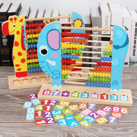 Animals shape multi colours Rack Wooden Abacus