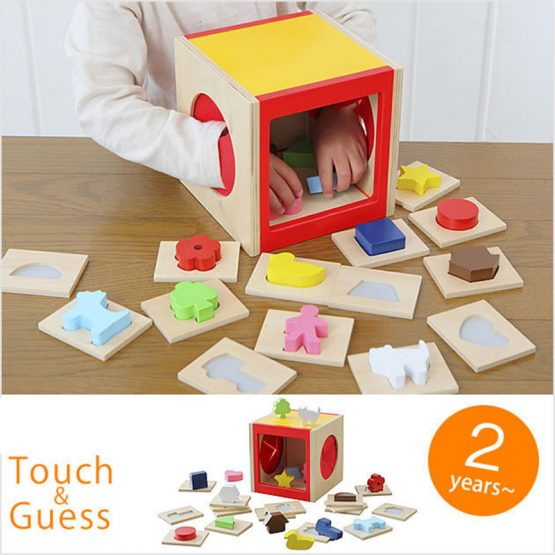 Touch and Guess Blind Box Wooden 3D shape Puzzles