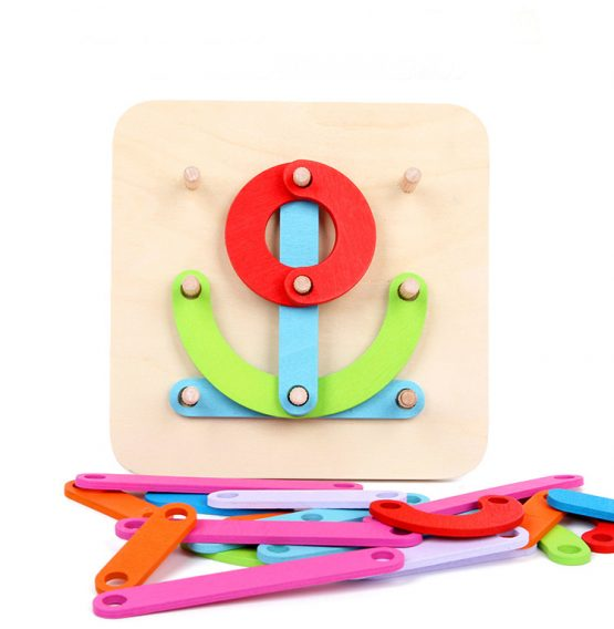 Colourful Wooden Jigsaw Puzzles numbers ,letters or shapes