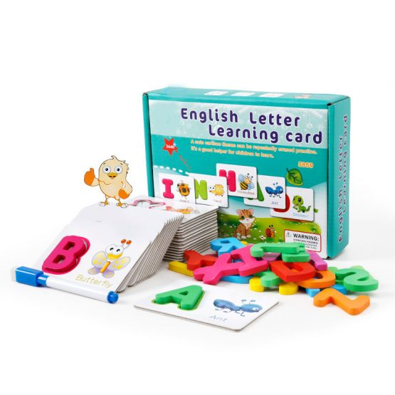 Wooden alphabets identification puzzles cards